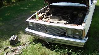 1981 El Camino Left on a Trailer for 21 Years Dragged From The Grave Video 2