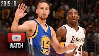 Kobe Bryant vs Stephen Curry Duel Highlights (2016.03.06) Lakers vs Warriors - LAST Meeting!