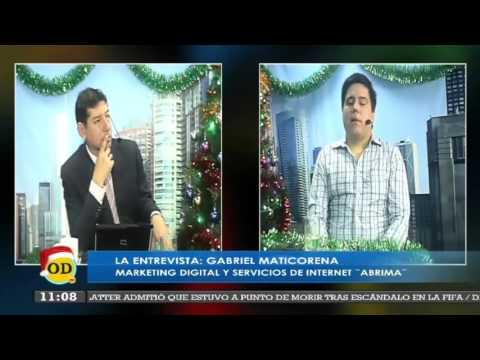 Noticias al Dia de Onda TV con Marco Antonio Reyes entrevista a ABRIMA Soluciones Web