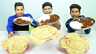 HOME MADE DELICIOUS CHICKEN FRY   PULKA AND RICE EATING CHALLENGE   INDIAN FOOD EATING  