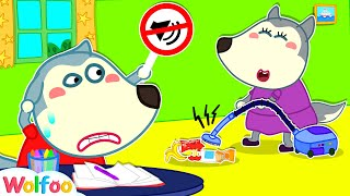 Too Much Noise in Wolfoo House - Funny Stories About Noise   Wolfoo Family Kids Cartoon