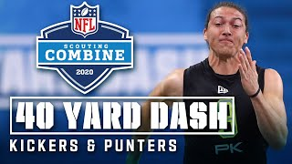 Kickers & Punters run the 40-yard Dash!