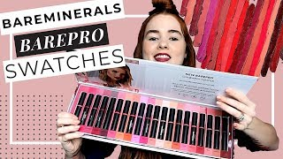 BareMinerals BAREPRO Longwear Lipstick Review and Swatches (20 Shades)