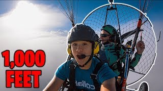 Flying Paramotor 1,000 FEET in the SKY!