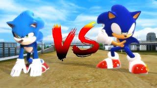 Modern Sonic V.S. Movie Sonic - The Race [Animation] ソニック v. ソニック