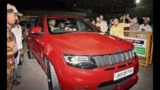 Dhoni plays with his new toy 'Grand Cherokee Trackhawk 6.2..