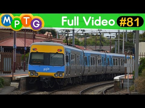 Metro Trains at Middle Brighton, Brighton Beach & North Brighton Stations (Full Video #81)