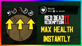 Red Dead Redemption 2 - How To Get MAX HEALTH  Fast & Easy! (RDR2 Tips & Tricks)