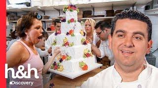 Noiva nervosa acaba estragando o bolo de casamento com as mãos | Cake Boss | Discovery H&H Brasil