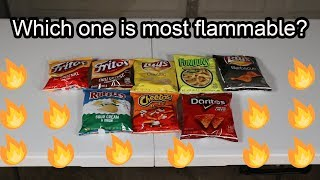 Which chips are the most Flammable? (science experiment)