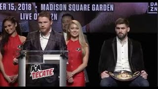 SAUL 'CANELO' ALVAREZ v  ROCKY FIELDING *FULL & UNCUT* NEW PRESS CONFERENCE / CANELO-FIELDING