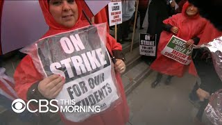 Los Angeles teachers strike, as only quarter of students show up to school