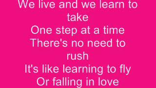 Jordin Sparks - One Step at a Time Lyrics