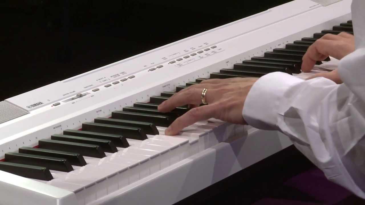 yamaha p105 88 key portable digital stage piano demo full compass youtube. Black Bedroom Furniture Sets. Home Design Ideas