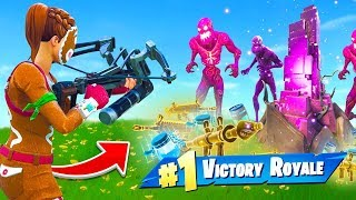 WINNING With *ONLY* Zombie Loot In Fortnite