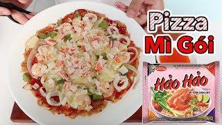Lâm Vlog - Làm Bánh Pizza Mì Gói Hải Sản Đơn Giản Tại Nhà   Rất Ngon và Không Ngán