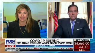 Sen Rubio Joins Maria Bartiromo on Fox Business to Talk China & Plans for a Fourth Stimulus Package