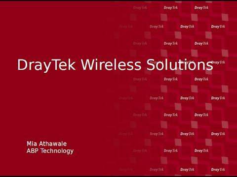 DrayTek Wireless Solutions