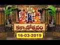 శ్రీవారి కళ్యాణోత్సవం | Srivari Kalyanotsavam | 16-03-19 | SVBC TTD