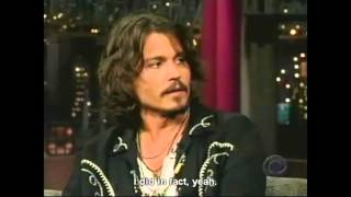 Letterman having a hard time with Johnny Depp (Eng Sub)