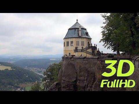 [3D] Königstein Fortress / Festung Königstein, Saxon Switzerland / Sächsische Schweiz, Germany
