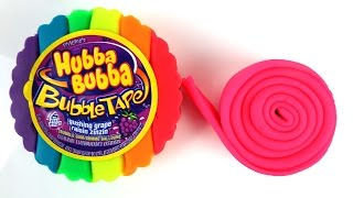Play Doh How to Make a Giant Hubba Bubba Bubble Tape with Play-Doh DIY Rainbow Colours & Learning