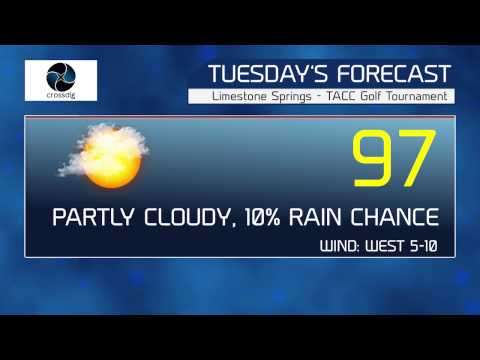 TACC Golf Weather Forecast   Monday
