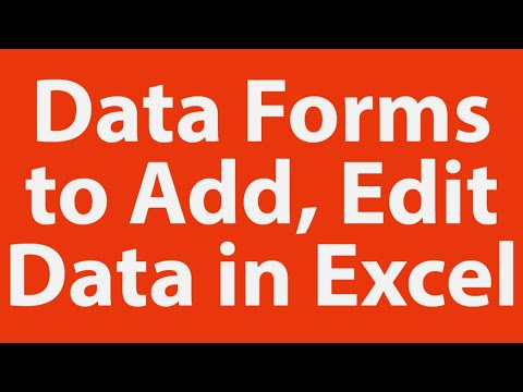 how to build a form in excel