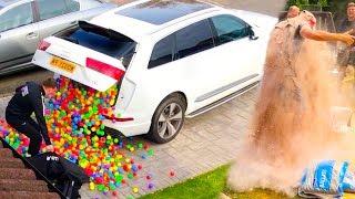HILARIOUS PLASTIC BALL PRANK!! (priceless reactions)
