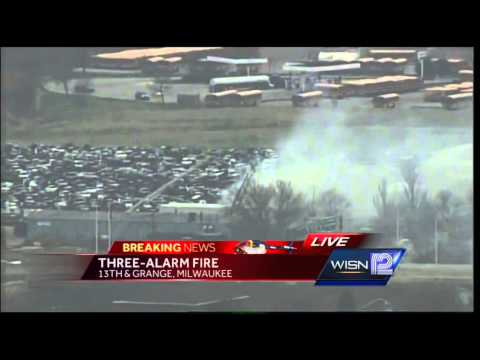 Fire Burns Through Salvage Yard Building Near Airport - Smashpipe News