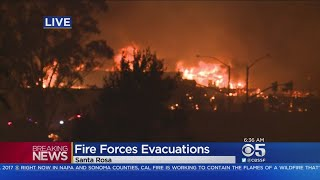 Massive Wildfire Forces Evacuations In Santa Rosa