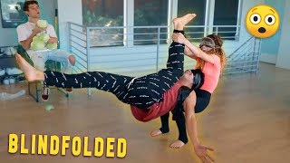 BLINDFOLD YOGA CHALLENGE w/ Alex Wassabi