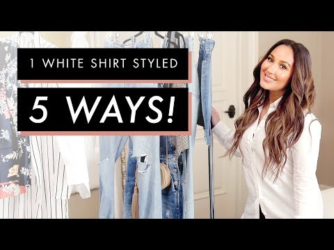 Adrienne Houghton's 5 White Shirt Outfits | All Things Adrienne