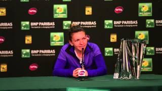 2015 Simona Halep Final press Conference