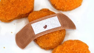 BAND-AID IN CHICKEN NUGGETS!