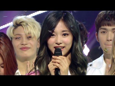 《Inkigayo WIN》 인기가요 1위 발표|TWICE(트와이스) - CHEER UP 20160529