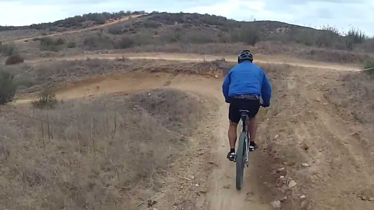 Mountain Biking Kona Trail in Castaic, California - Angelo with his hardtail & singlespeed/broken derailleur going down Kona. He broke his derailleur at G-Out trail but thanks to Danny who always carry a singl...