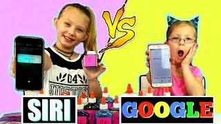 SiRi vs GooGLE Picks MY SLiME INGREDiENTS Challenge!!!