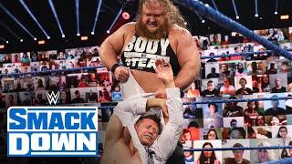"""Otis barrels through The Miz & John Morrison on """"The Dirt Sheet"""": SmackDown, Sept. 18, 2020"""