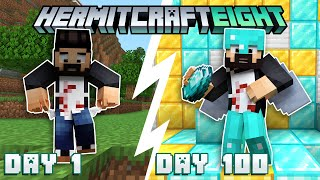 The First 100 Days Of Hermitcraft Season 8! - Will I survive?