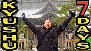 7 Days Kyushu Japan Travel Vlog - The Land of Snow and Fire!