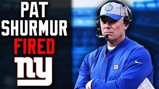 New York Giants Fan Reacts to Pat Shurmur Fired! Next Giants Head Coach?