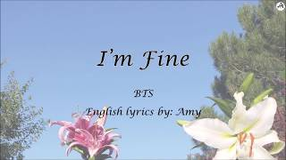 I'm Fine - English KARAOKE (piano instr.) - BTS