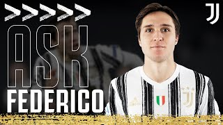 📝😊?? ASK FEDERICO CHIESA! | Junior Members Q&A | Juventus Junior Reporter