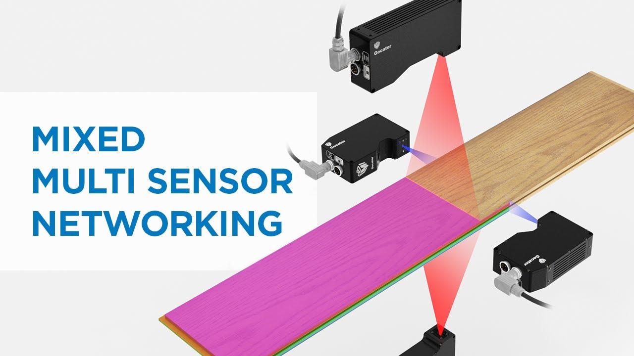 3D profiling floorboard LMI Gocator Mixed Multi Sensor Networking