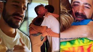 Emotiva reacción de Camilo y los Montaner al embarazo de Evaluna, todos lloraron al enterarse.