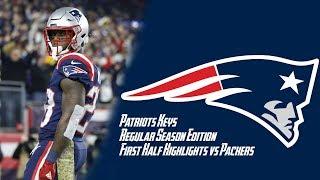 Packers vs Patriots Week 9 Regular Season First Half Highlights