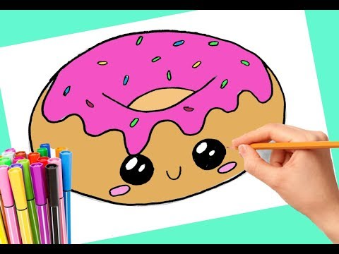 how to draw a donut cute and easy