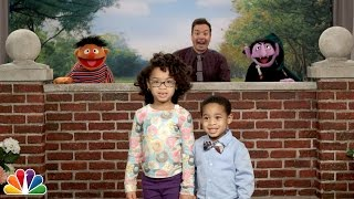 """""""Tonight Show Celebrity Photobomb"""" with Jimmy Fallon and Sesame Street"""
