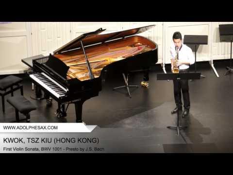 Dinant 2014 - Kwok, Tsz Kiu - First Violin Sonata, BWV 1001 - Presto by J.S. Bach